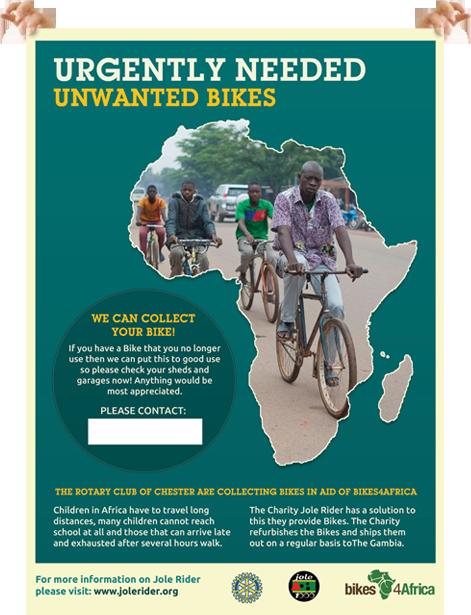 Bikes 4 Africa Poster Design